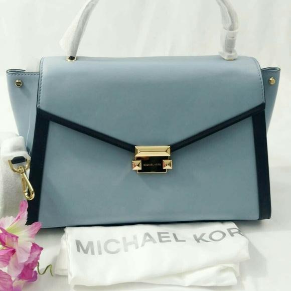 1d32aef03a11 Michael Kors Bags | Large Whitney Satchel Pale Blue | Poshmark